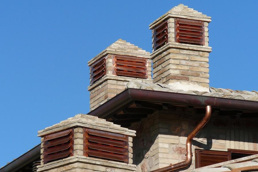 Alette per comignoli in muratura